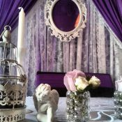 Оформление в сиреневой гамме на свадьбу