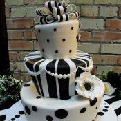 Черно-белое оформление на свадьбе