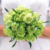 изумрудный свадебный букет