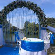 Сваденая арка в морском стиле