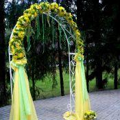 Арка желтая на свадьбу