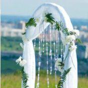 Свадебная арка белая