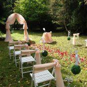 Арка персиковая на свадьбу