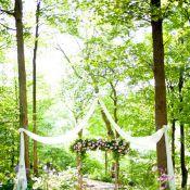 Лесная арка на свадьбу