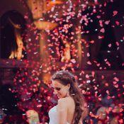 Запуск лепестков роз на свадьбе