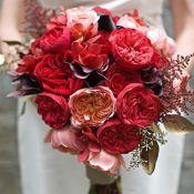 букет невесты из необычных цветов