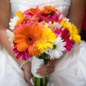 букет невесты из разноцветных гербер