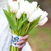 букет для невесты из белых тюльпанов