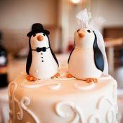 свадебный торт с пингвинами