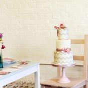 свадебный торт с лентами
