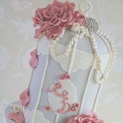 свадебный торт с цветком