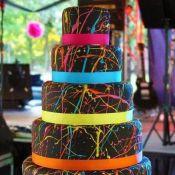 свадебный торт краски