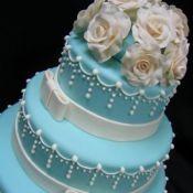 свадебный торт голубой