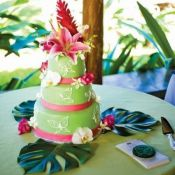 свадебный торт Зелень