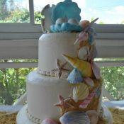 свадебный торт море