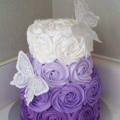 свадебный торт фиалка
