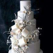 свадебный торт зимний