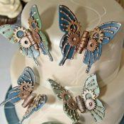 свадебный торт бабочка