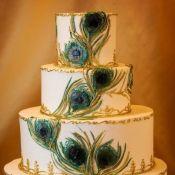свадебный торт павлинье перо