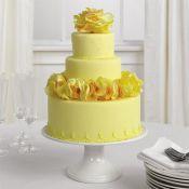 свадебный торт желтый