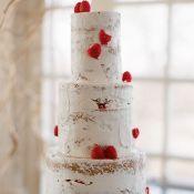 торт на свадьбу береза