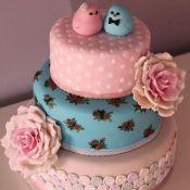 свадебный торт птенцы