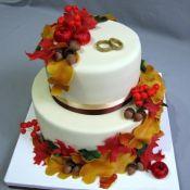торт на свадьбу осенний