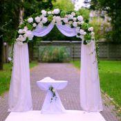 Свадебные арки из живых цветов