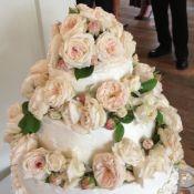 свадебный торт букет