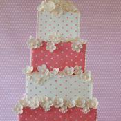 торт на свадьбу цветочки