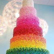 торт на свадьбу радуга