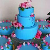 торт на свадьбу синева
