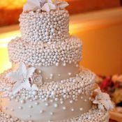 свадебный торт россыпь жемчуга