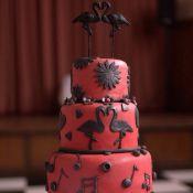 свадебный торт фламинго
