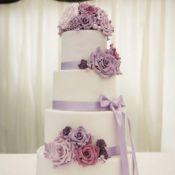 свадебный торт фиолет