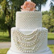торт на свадьбу жемчужинка