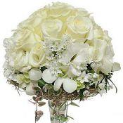 Букет на свадьбу турандот с белыми розами
