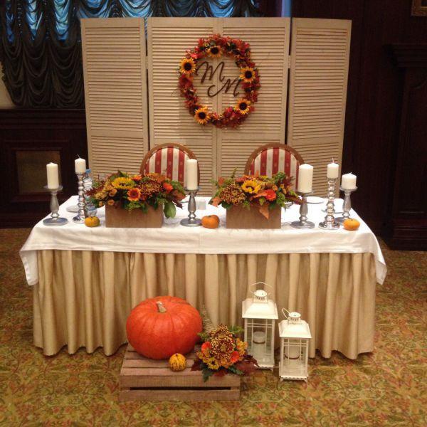 Осеннее.оформление свадьбы